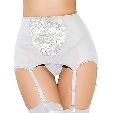 d7fdb23e89db9 Amazon.com  Women s Bustier Corset Sexy Girdle Waist Cincher with Garter  Belt Lingerie Sets  Clothing
