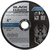 """BHA Metal and Stainless Steel Thin Cut Off Wheels for Angle Grinders, 6"""" x .045"""" x 7/8"""" - 25 Pack"""