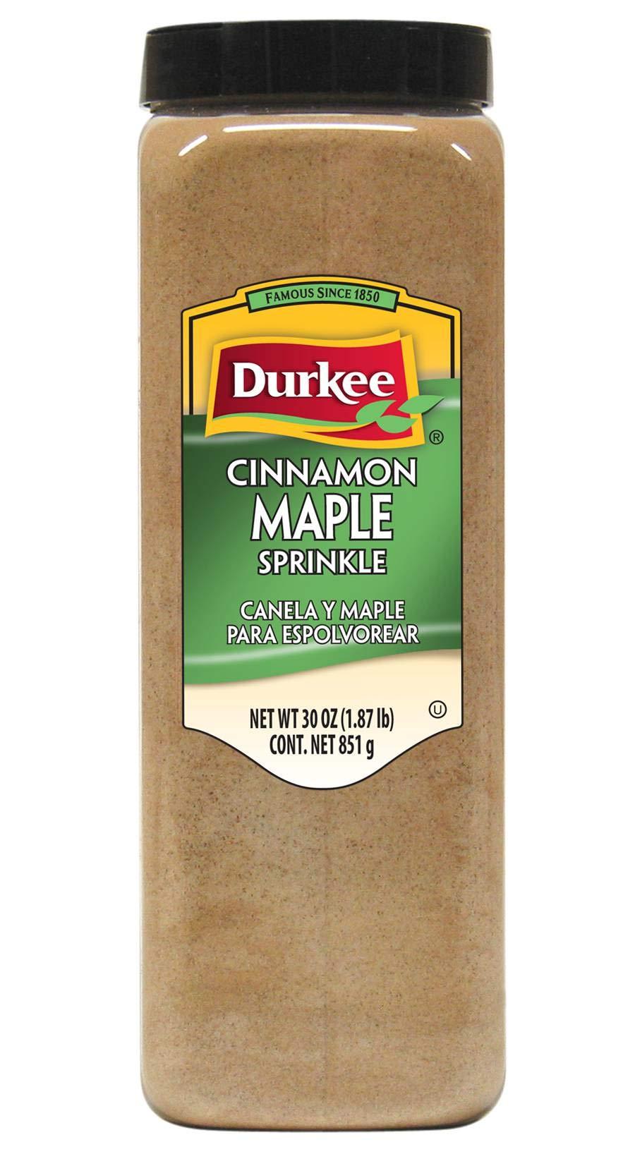 Durkee Cinnamon Maple Sprinkle - 30 oz. container, 6 per case