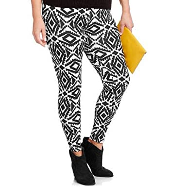 320772bda17a7b Image Unavailable. Image not available for. Color: No Boundaries Womens  Ankle Leggings Aztec Print Mid Rise Inseam 28 ...