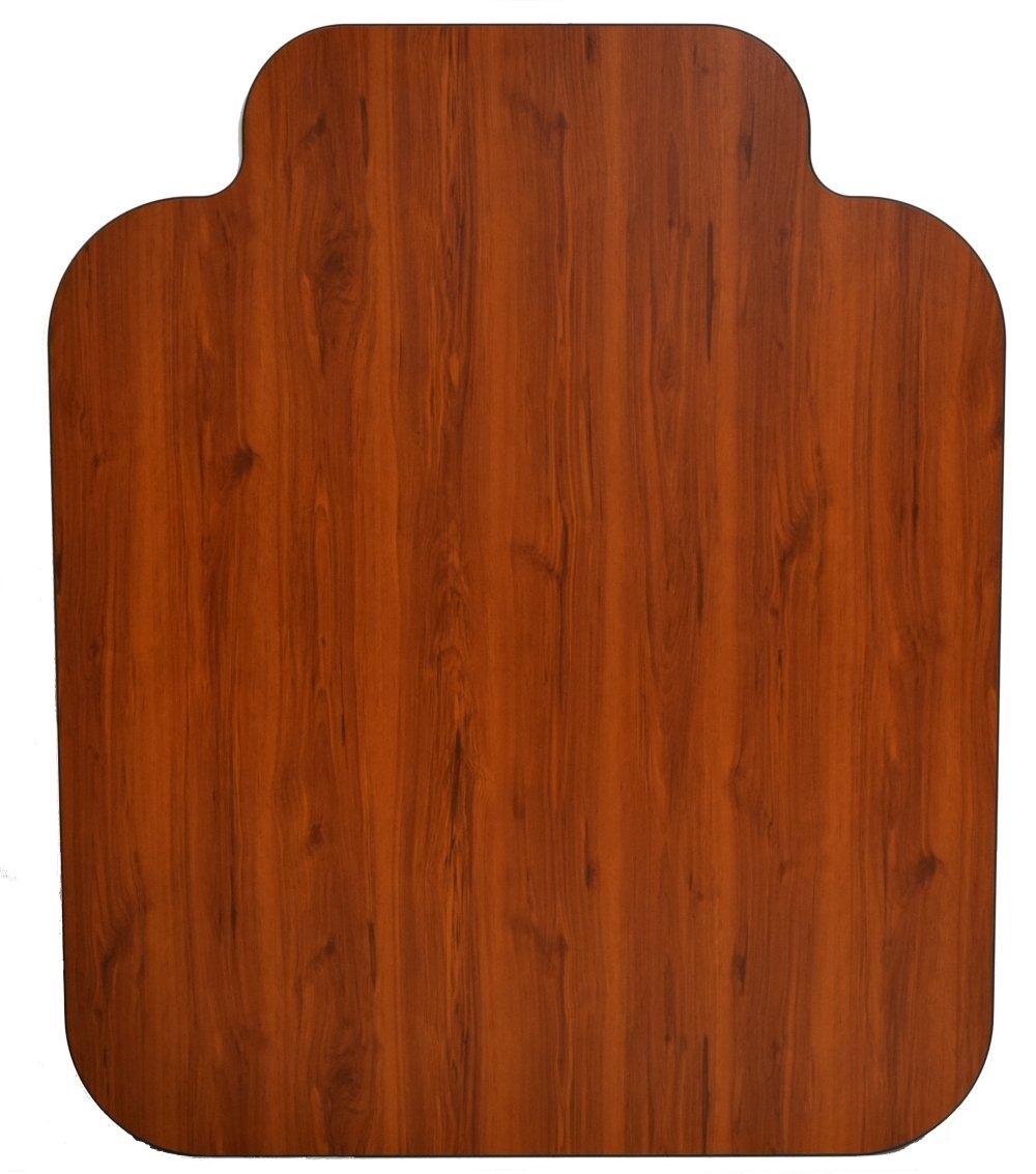 Laminate Chair Mat -Walnut-42×46 with Single Lip