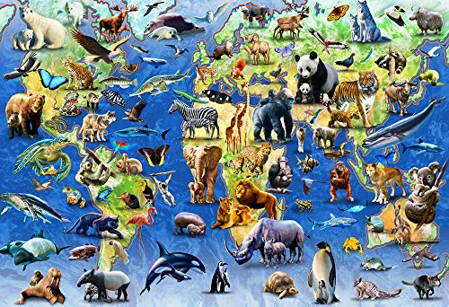 (Vermont Christmas Company Endangered Species Kid's Jigsaw Puzzle 100 Piece)
