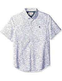 Men's Short Sleeve Shark Print Oxford Shirt