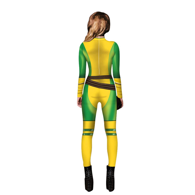 Yute Cosplay Women Captain Hero Bodysuit Halloween Costume Spandex Tight Suit