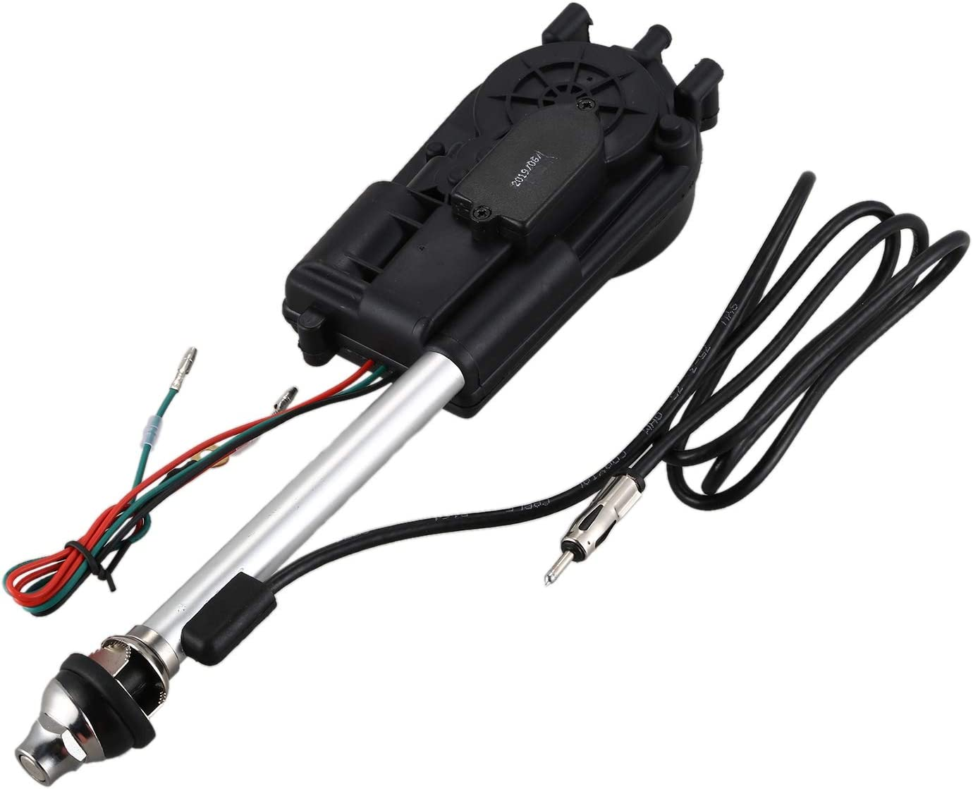 JVSISM Car Electric Aerial Radio Automatic Booster Power Antenna Kit Black