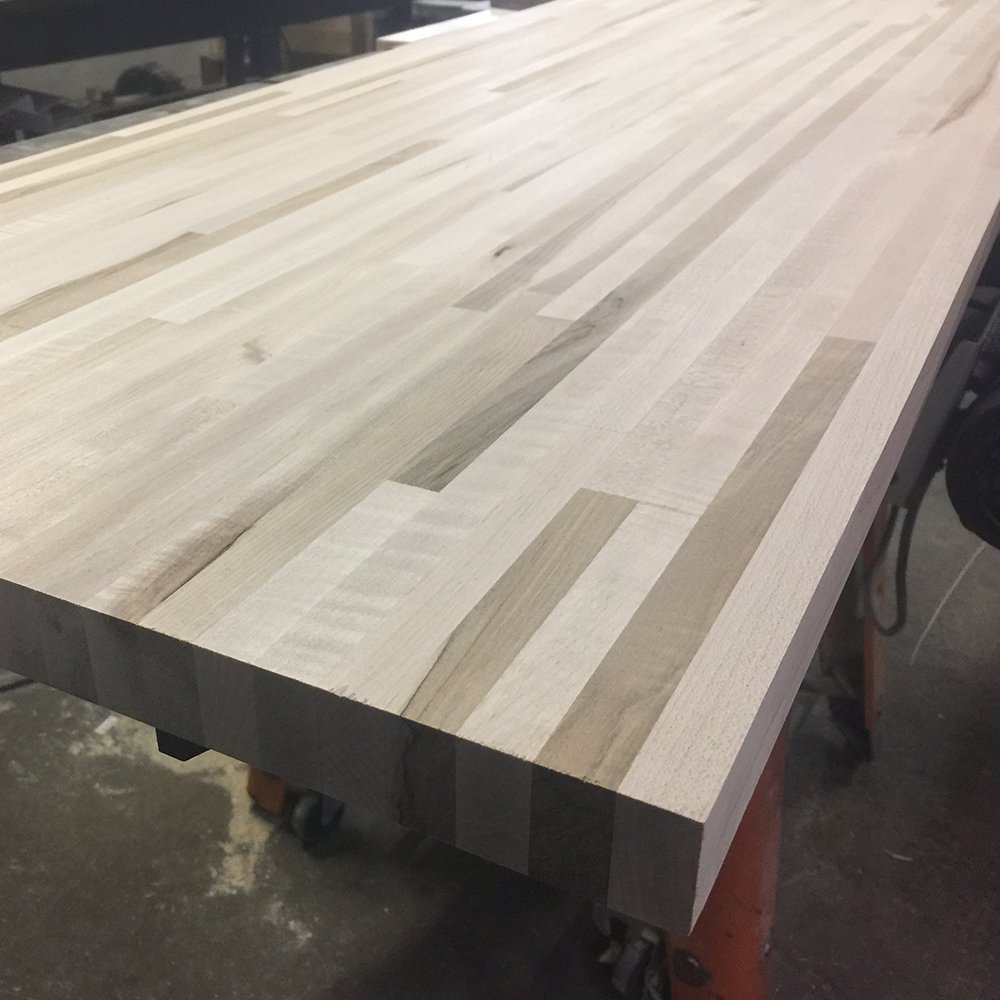 Maple Butcher Block Countertop - Custom Size - 72 Inches Length x 18 Inches Width x 1-1/2 Inches Thick