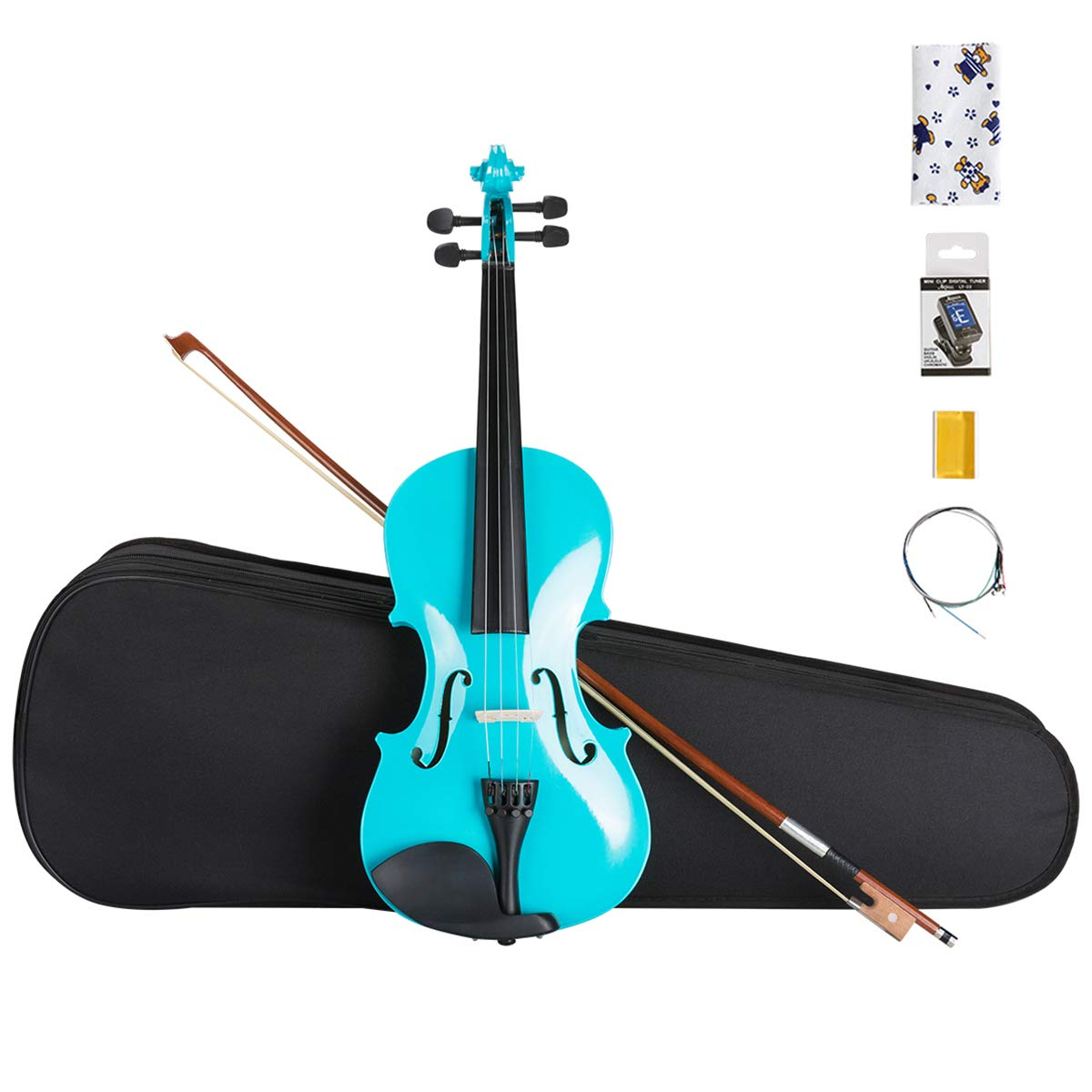 Amazon.com: ARTALL 4/4 Full Size Handcrafted Acoustic Violin Beginner Kit  for Student with Hard Case, Bow & Accessories, Glossy Blue: Musical  Instruments