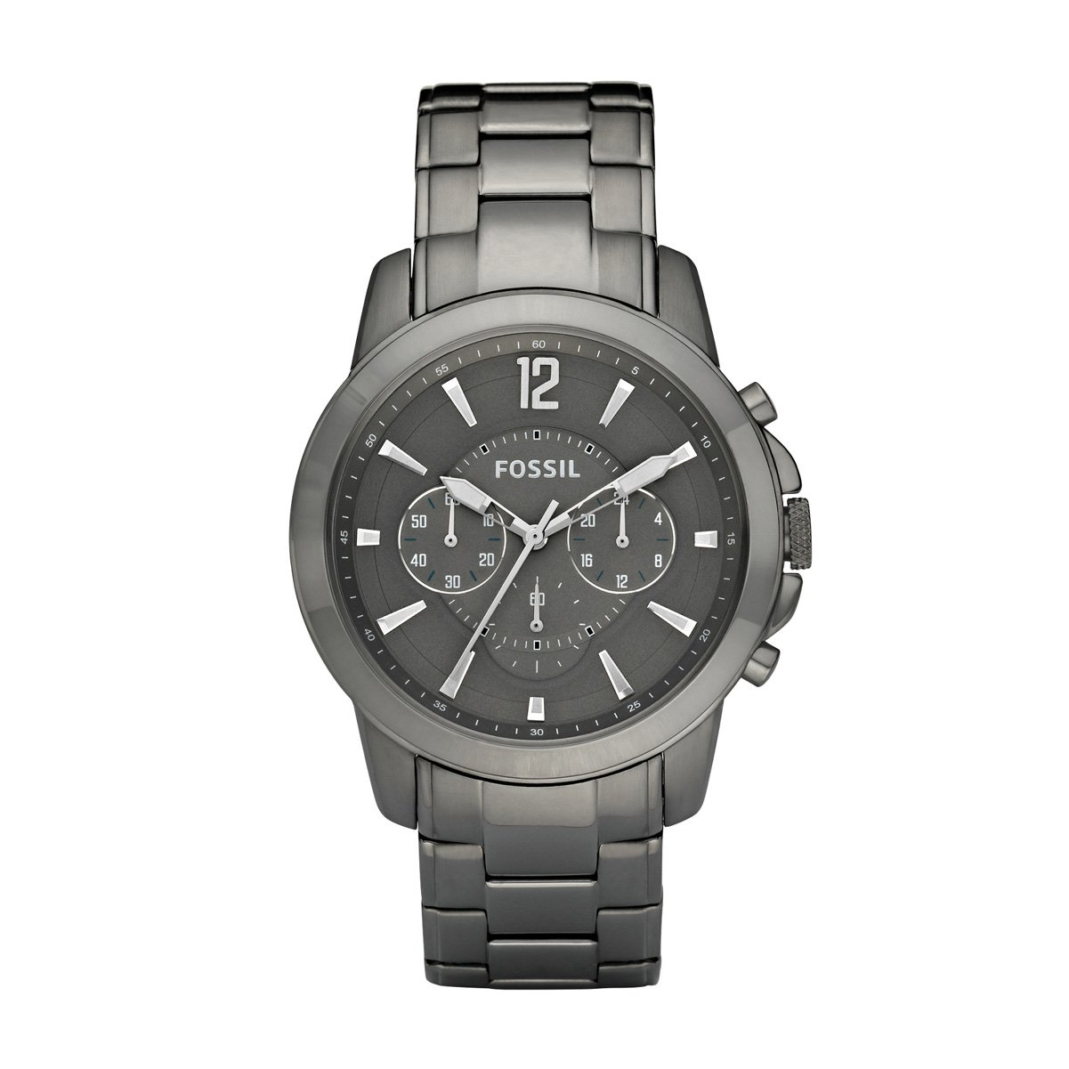 Fossil Men s FS4584 Stainless Steel Analog Grey Dial Watch