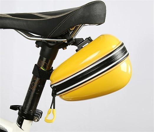 LLTS Bolso de Bicicleta Impermeable Bolso de Asiento Mini Bolso de Cola de Shell Duro de Bicicleta de Montaña Equipo de Montar Bicicleta Plegable, Rosa: ...
