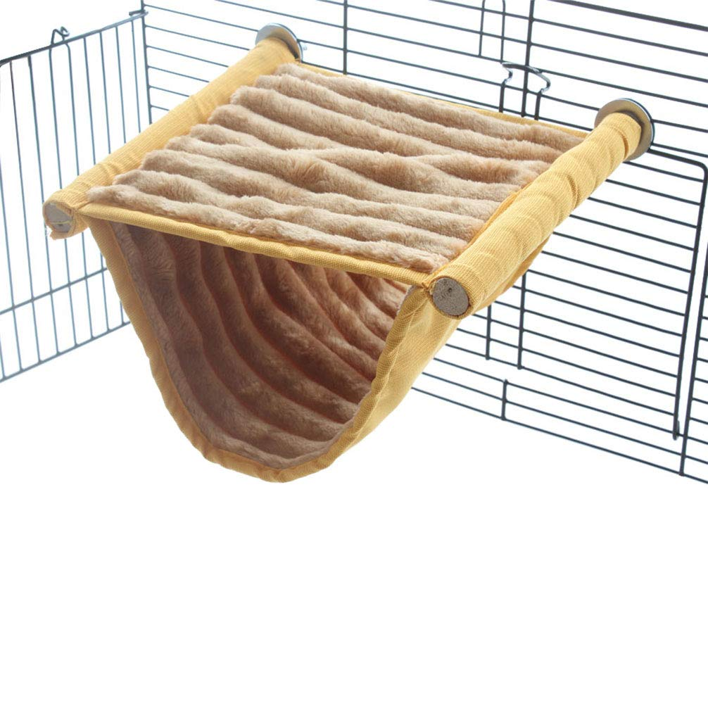 Emours Double Bunkbed Hammock Sleep Bed Cage Play Platform with Warm Fleece for Hamster Mice by Emours