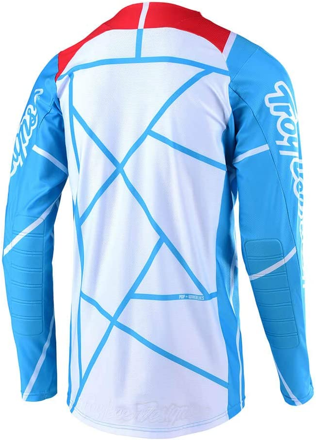 Red//Navy, Small Troy Lee Designs Mens Off-Road Motocross Motorcycle SE Air Metric Jersey