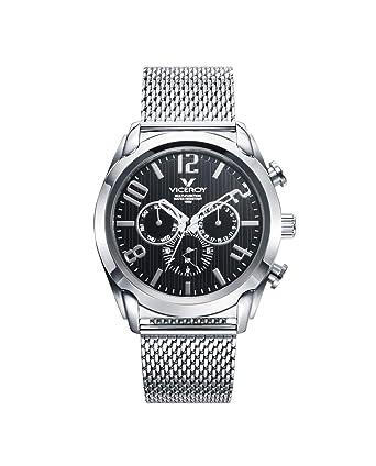 Viceroy 471195-55 - Reloj para Hombre Multifunción Acero, Esfera Negra: Amazon.es: Relojes