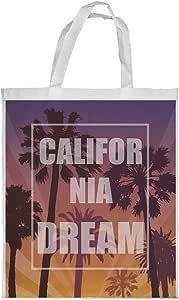 california dream Printed Shopping bag, Large Size