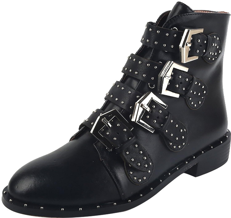 ELEHOT Womens Elebranch 3.5CM low-heel Boots