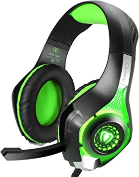 kriogor Gaming auriculares, 3.5 mm de LED câblé casco Ave micrófono/control de volumen para iPhone Playstation 4 PS4 XBOX ONE: Amazon.es: Electrónica