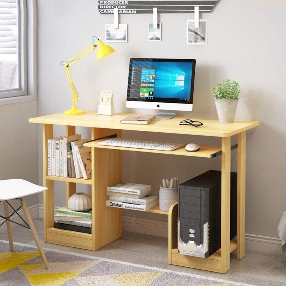 パソコンデスク ホームオフィスのための現代シンプルなスタイルの木製パソコンデスク オフィスデスク (Color : Yellow, Size : 120x48x71.2cm)