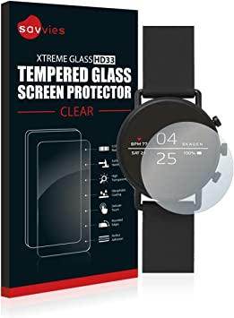 savvies Cristal Templado Compatible con Skagen Smartwatch Falster ...