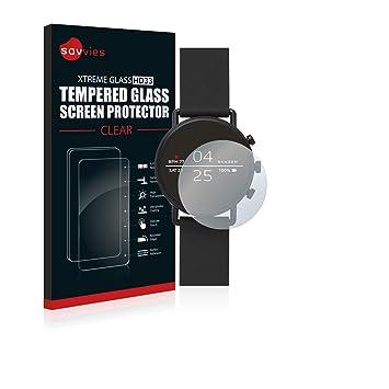 savvies Cristal Templado Compatible con Skagen Smartwatch ...