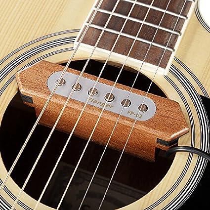 TUAVITTA - Transductor de madera para guitarra acústica con 2 ...