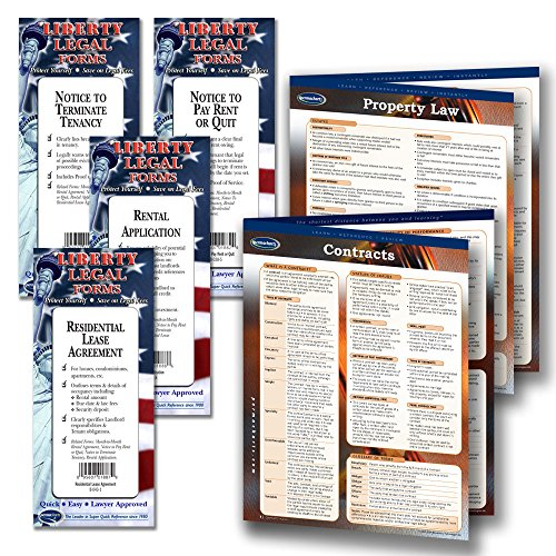 Residential Lease Agreements (Landlord Property Management - Legal Forms Kit (Notice to Terminate form, Notice to Pay/Quit Rent form, Rental Application form, Residential Lease Agreement forms) & 2 laminated Legal Reference Guides)