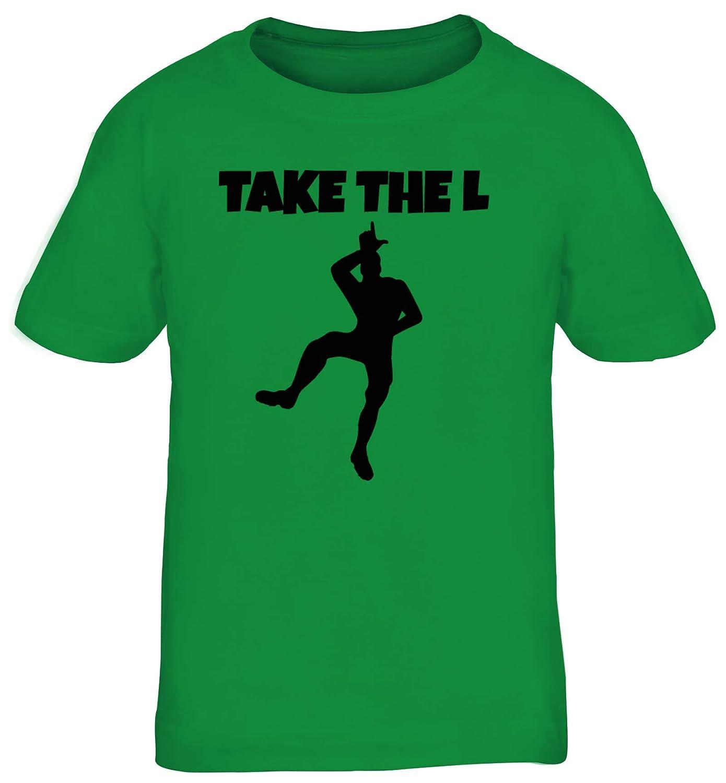 ShirtStreet Gamer Hype Kinder T-Shirt Rundhals Mädchen Jungen Take The L Dance