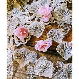 Rustic Wedding Table Decorations, Mini Rosebud Flower Confetti 1