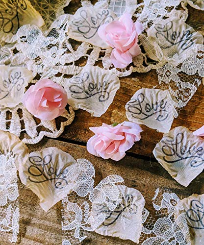 Rustic Wedding Table Decorations, Mini Rosebud Flower Confetti ()