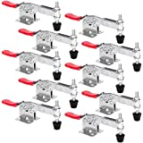 Chfine Hold Down Toggle Clamps Latch Antislip Red Hand Tool Holding Capacity Antislip Horizontal Heavy Duty Toggle Clamp 201-