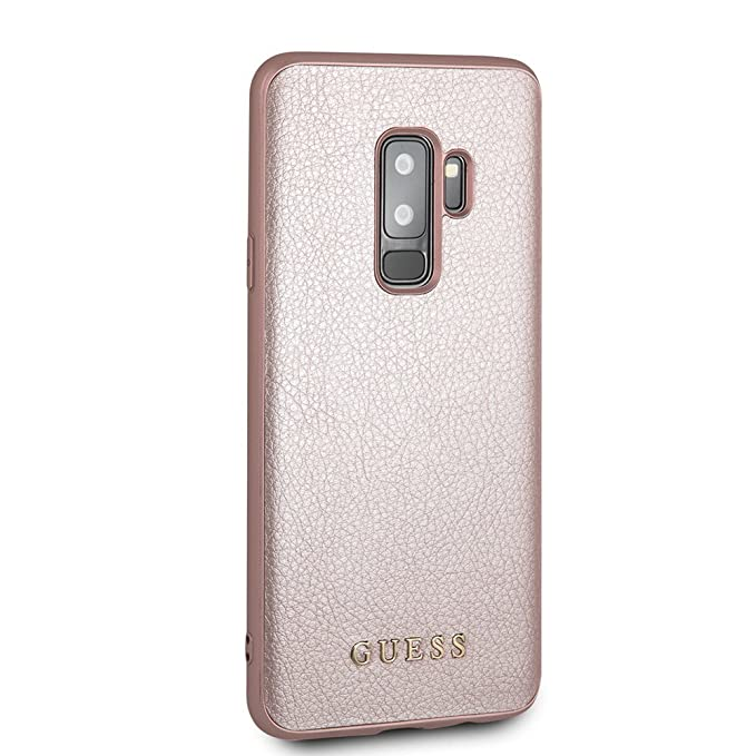 size 40 141e2 a1823 Guess Samsung Galaxy S9 Plus Case - by CG Mobile PU Leather Rose Gold Cell  Phone Case | Easily Accessible Ports | Officially licensed.