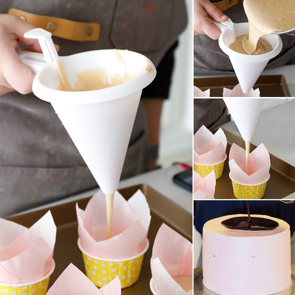 CocoMarket Home-Adjustable Chocolate Funnel for Baking Cake Decorating Tools Kitchen