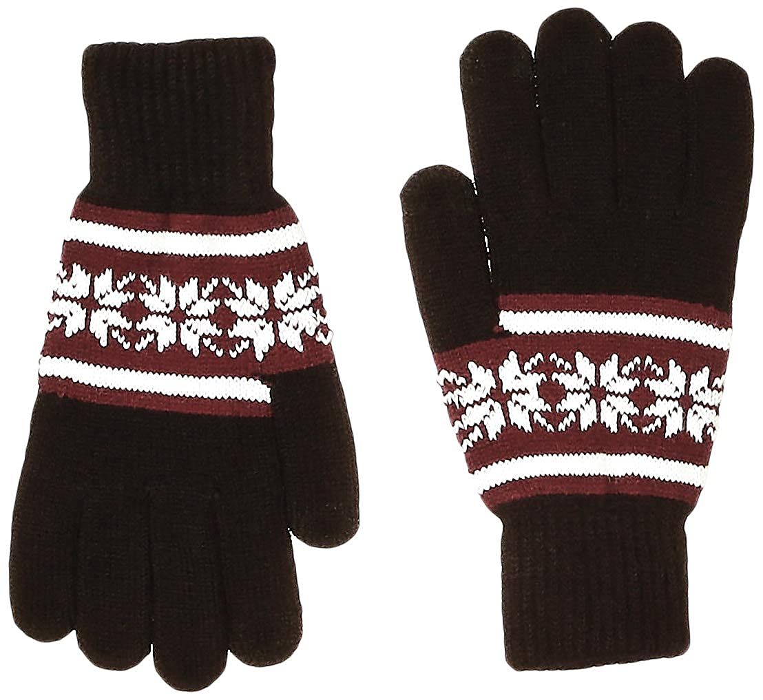 Under Zero Men's Winter Touch Screen Jacquard Knitted Gloves
