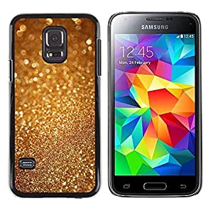 Caucho caso de Shell duro de la cubierta de accesorios de protección BY RAYDREAMMM - Samsung Galaxy S5 Mini, SM-G800, NOT S5 REGULAR! - Sparkle Glitter Bling Metal