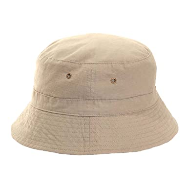 Mens Ladies White Beige 100% Cotton Bucket Bush Sun Hat Bowls Cricket Hat ( eb46bd990ba