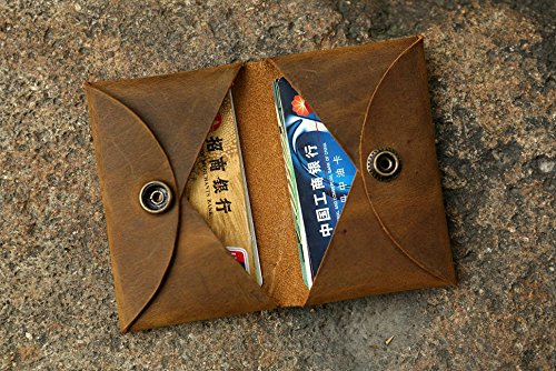 Amazon Personalized Distressed Leather Credit Card Holder Case