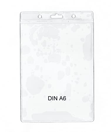 Ausweishüllen DIN A6 vertikal mit 10 mm Schlüsselband 148 x 105 mm