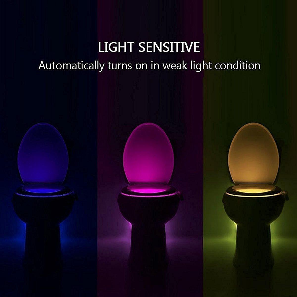 UV St/érilisateur WC Lumi/ère de nuit D/étecteur de Mouvement LED Abattant WC Light 16 Changement de couleur lumi/ère Bol avec Aromath/érapie pour nimporte quel WC