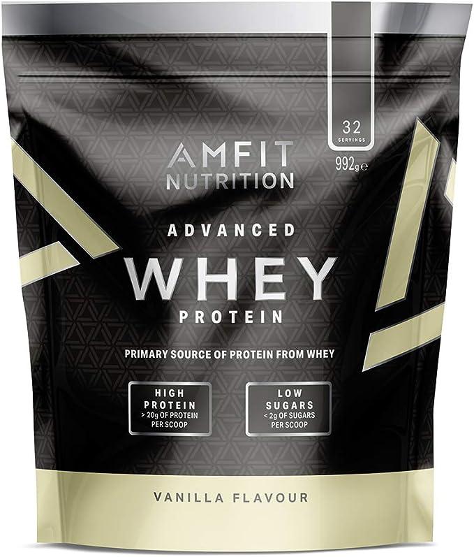 Marca Amazon - Amfit Nutrition Proteína Whey de...