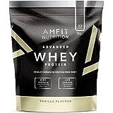Amazon Brand- Amfit Nutrition - Advanced Whey Protein Powder Vanilla, 32 Servings, 992 g