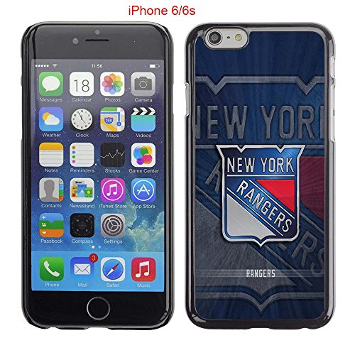 iPhone 6 Case, iPhone 6S Cases, NY Rangers Hockey Team logo 03 Drop Protection Never Fade Anti Slip Scratchproof Black Hard Plastic Case (Sherwood Player Record)