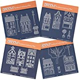 Groovi Baby Plates - Wee Houses & Shops (Set of 4) by Groovi Plate