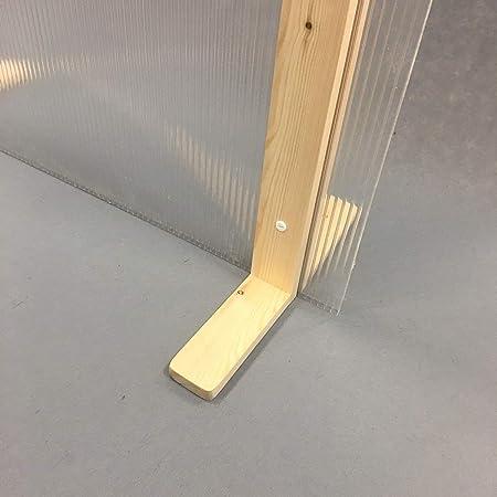 Mampara protección separadora gran estabilidad (Pies color nogal ...