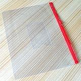 baotongle 50 PCS Clear Color Zip up PVC A5 Paper