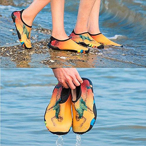 séchage Femmes Slip aquatiques Yoga Running rapide Hommes Chaussures on GEIMEI Surfing Plage à séchage aquatiques Natation à Chaussures Or rapide wxYUAv8xq
