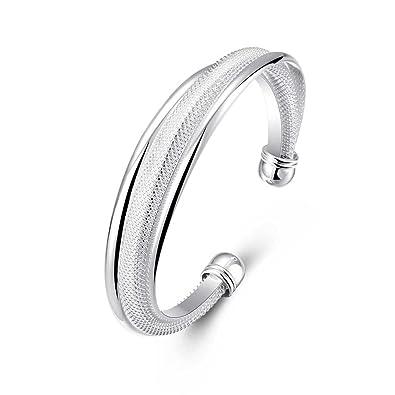 28051537ab9f5 VIKI LYNN - Bracelet Femme en Argent 925 Plaqué - Bijoux Pas Cher - Vente  Seule - Simple et Fantaisie