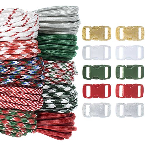 Craft County Kids 550 Paracord Crafting DIY Kits - 100 Feet of Paracord & 10 3/8