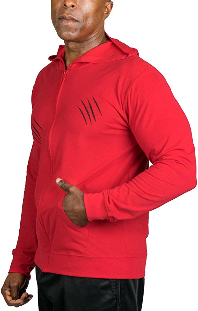 UCgym Mens Lightweight Zip Up Hoodie Under Constraction silverback