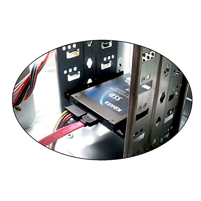 Amazon.com: eDealMax 2,5 pulgadas a 3,5 pulgadas de la bahía de Disco Duro SSD portátil de Disco Duro Soporte de montaje Negro: Electronics