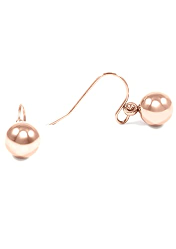 bc2dedaa97d77 Happiness Boutique Women Ball Earrings Rose Gold Colour