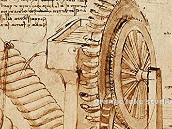 Ruimeng máquinas de la Leonardo da Vinci lienzo decorativo pintura ...