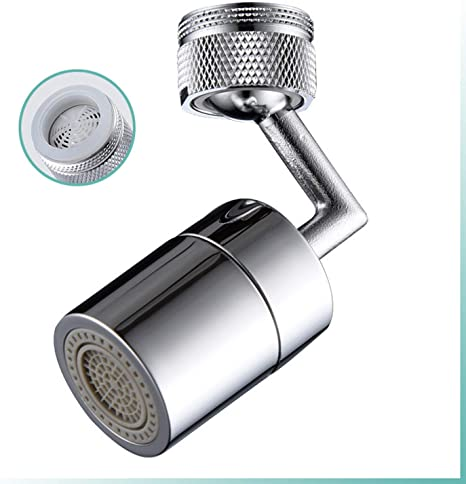 Female Thread-A22MM Oxygen-Enriched Foam MuYiLIFE Universal Splash Filter Faucet,720/° Rotatable Faucet Sprayer Head with Durable Copper,Anti-Splash